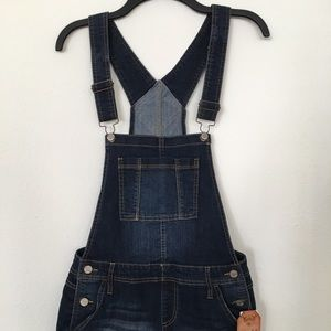 Mudd Jeans - Women's Adjustable Straps Denim Overalls Shorts
